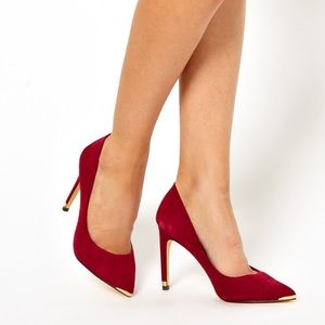 Ted Baker suede court pumps